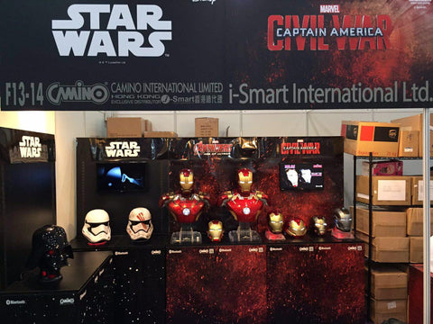 hero audio iron man and star wars speakers at ani-com and games hong kong - 4
