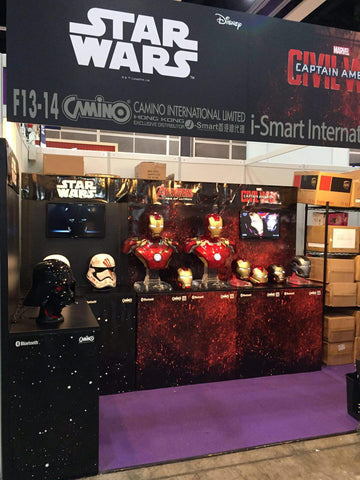 hero audio iron man and star wars speakers at ani-com and games hong kong - 3