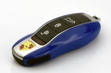 Remote Key Cover (Gloss Blue) For Porsche Keyless Remote Key