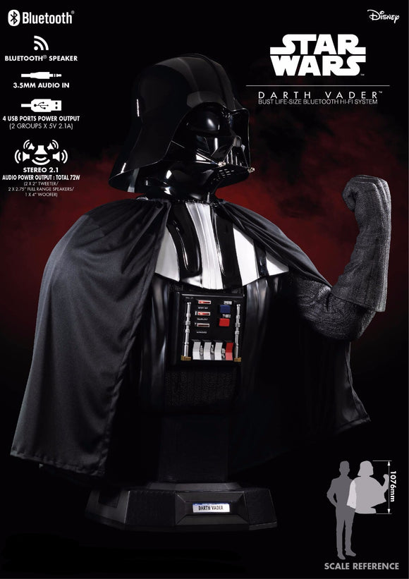 Star Wars Darth Vader Bust 1:1 Figurative Decorative Bluetooth HI-FI System Speaker Set (Pre-Order) - HERO AUDIO