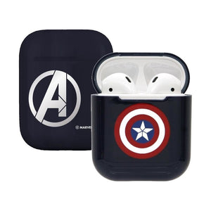 Marvel Avengers Captain America Airpod Casing Iphone Airpods Accessories (Red/Blue) - HERO AUDIO
