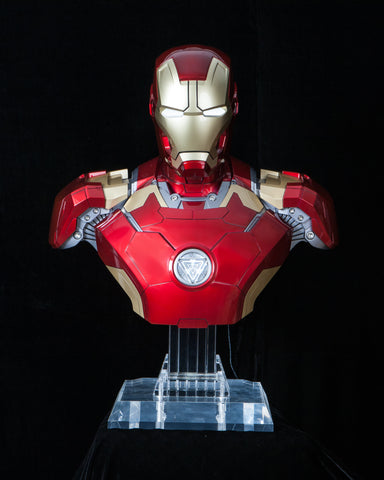 #761401 Marvel Hero Avengers Iron Man Mk43 Bust BT HiFi System Bluetooth Speaker