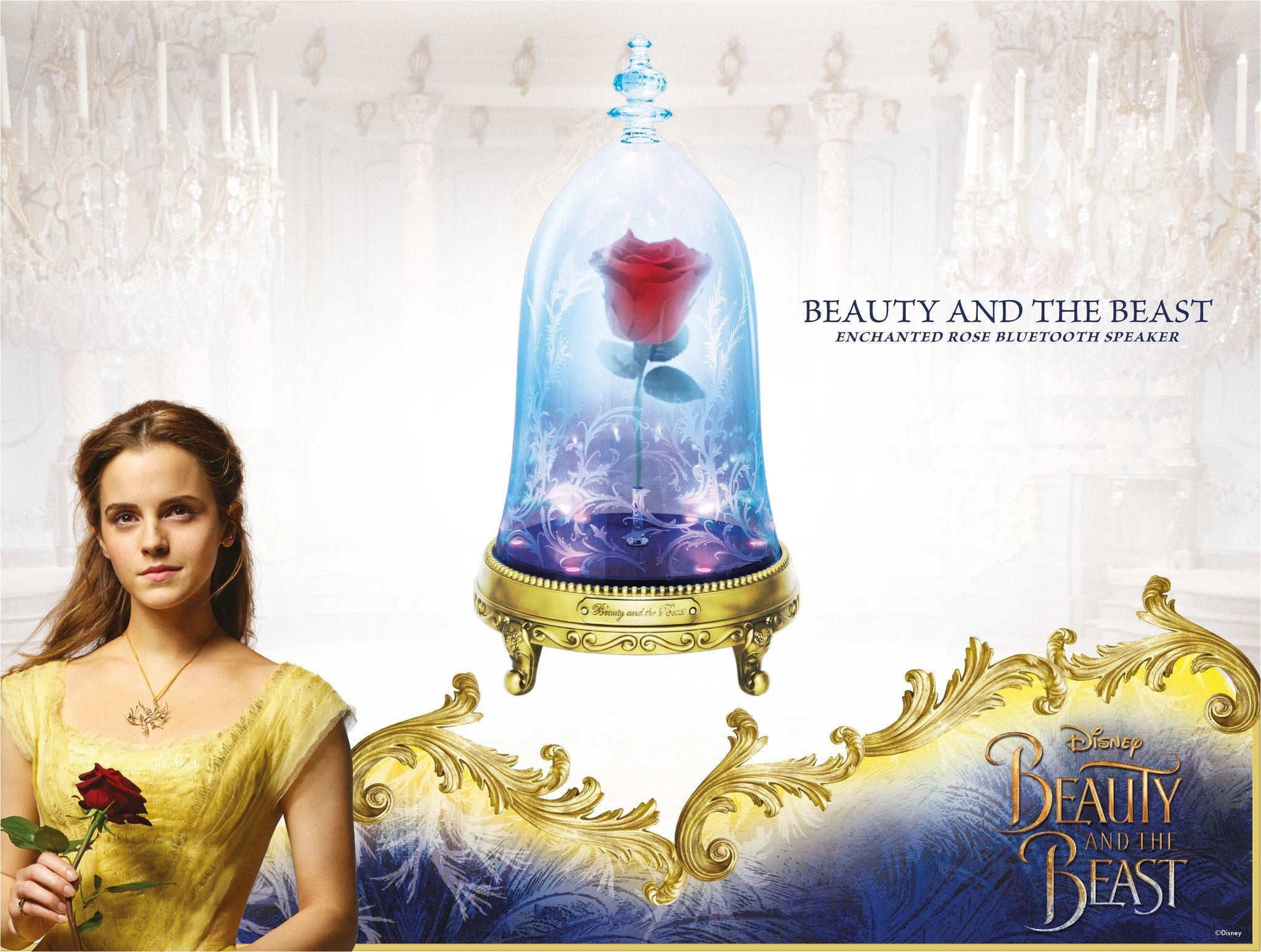 Beauty and The Beast - Enchanted Rose Speaker - HERO AUDIO