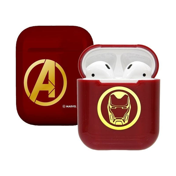 Marvel Avengers Iron Man Airpod Casing Iphone Airpods Accessories (Red) - HERO AUDIO