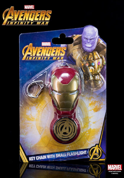 Marvel Hero Avengers 3 Infinity War Iron Man - Keychain With Small Flashlight
