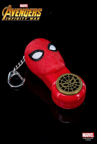 Marvel Hero Avengers 3 Infinity War Iron Spiderman - Keychain With Small Flashlight