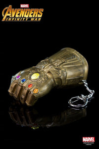 Marvel Hero Avengers 3 Infinity War Thanos Gauntlet - Keychain With Small Flashlight