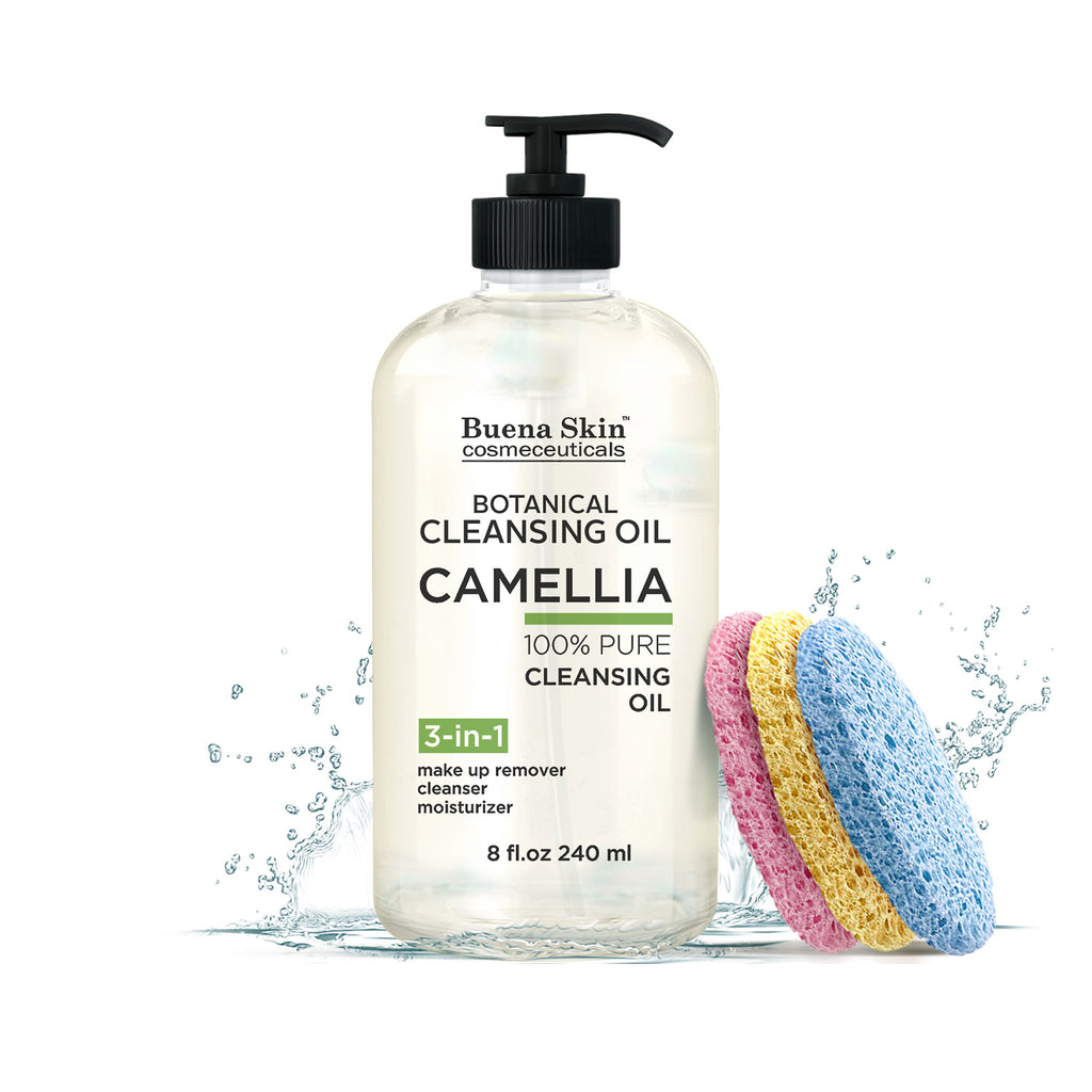 Camellia Botanical Deep Cleansing Oil 8oz- Sponges Included