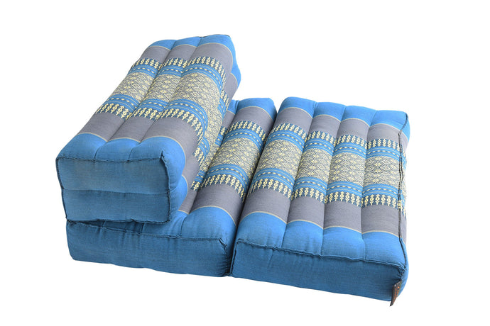 Double Foldable Meditation and Yoga Cushion - Teal / Turquoise