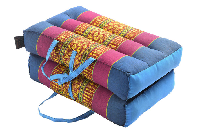 Medium Foldable Meditation and Yoga Cushion - Blue / Purple