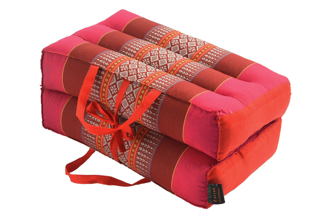 Medium Foldable Meditation and Yoga Cushion - Pink / Red Ruby