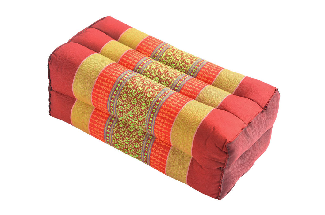 Standard Meditation and Yoga Cushion - Red / Yellow
