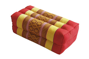 Standard Meditation and Yoga Cushion - Spanish Red / Yellow