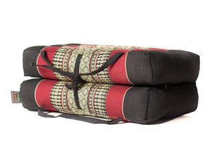 Foldable Meditation Cushion Black / Red