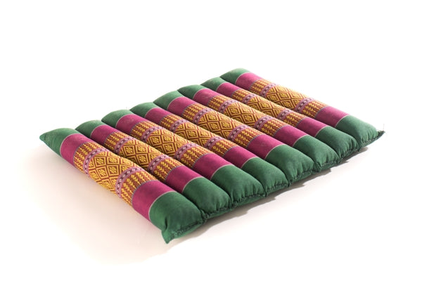 Zafuko CR34 : flat rollable yoga & meditation cushion block prop : green & violet : 3770010821 069