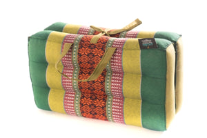 Foldable Meditation Cushion Green Yellow
