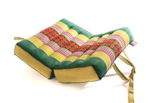 Green Yellow Meditation Cushion Foldable