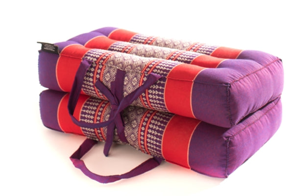 Zafuko DL33 - foldable yoga & meditation cushion block prop - purple & red - 3770010821 144