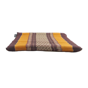Large Rollable Flat Meditation and Yoga Cushion - Burgundy / Orange