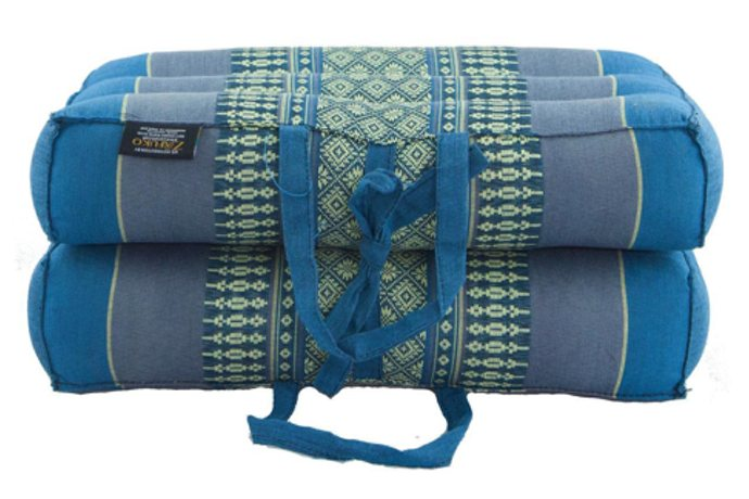 Medium Foldable Meditation and Yoga Cushion - Teal / Blue
