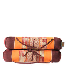 Large Meditation Cushion Orange Brown