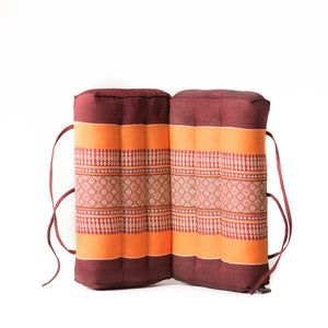 Foldable Meditation Pillow Brown orange