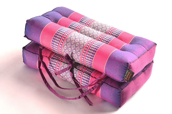 Medium Foldable Meditation and Yoga Cushion - Purple / Fuchsia