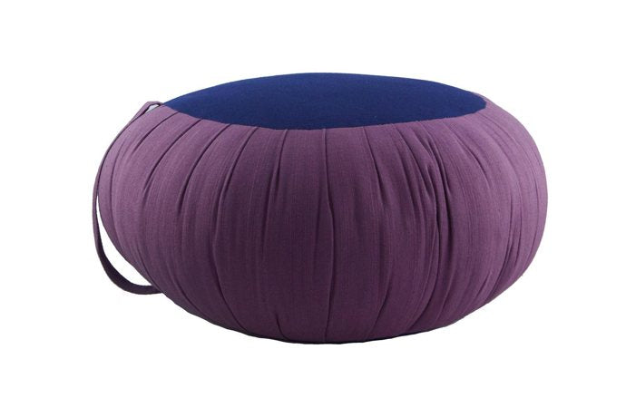 Round Meditation and Yoga Cushion - Purple / Blue