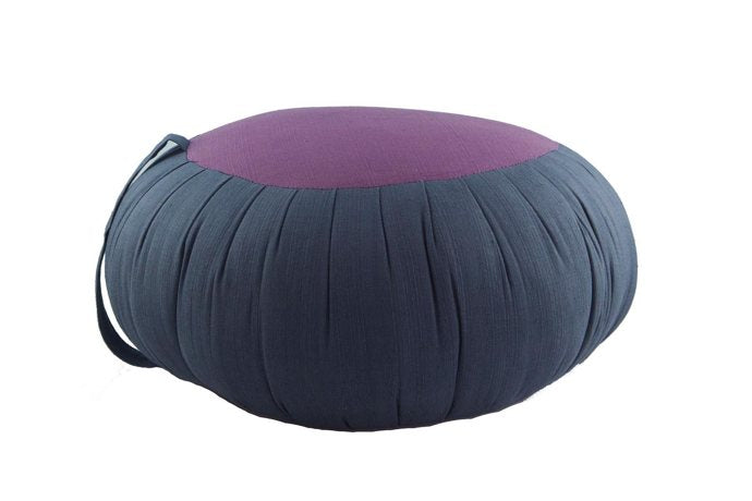 Round Meditation and Yoga Cushion - Dark Gray / Purple