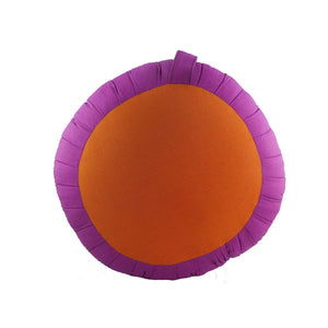Round Meditation and Yoga Cushion - Fuchsia / Orange
