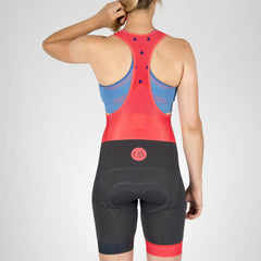 Bib Shorts - Hot Coral Trim