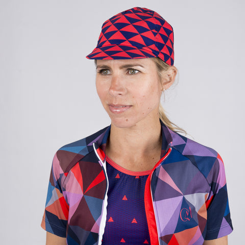 Summer Cap - Bobet Blue & Hot Coral