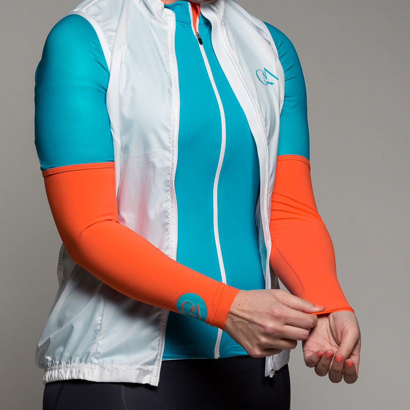 Arm Warmers - Coral