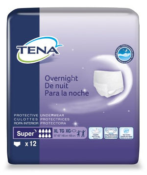 Adult Absorbent Underwear Tena¬ Pull On X-Large Disp. Heavy Absorbency BG of 12