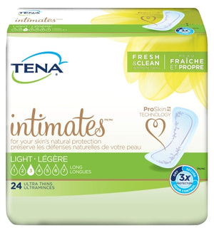 Bladder Control Pad TENA¬ Intimates» 10 Inch Length Light Absorbency Polymer Female Disposable BG of 24