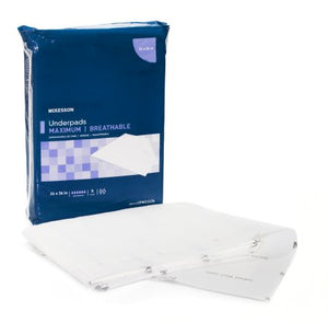 McKesson Max Disposable Fluff / Polymer Absorbent Underpad