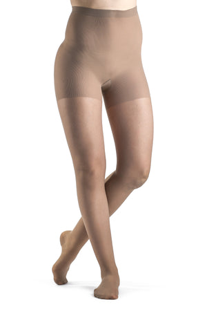 SIGVARIS Women's SHEER FASHION 120 PANTYHOSE, Compression 15-20mmHg