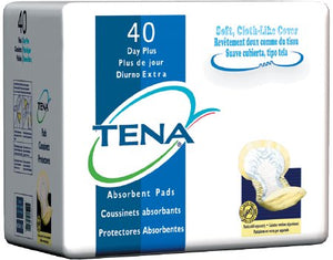 Bladder Control Pad TENA¬ Day Plus Heavy Absorbency Polymer Disp. PK of 40