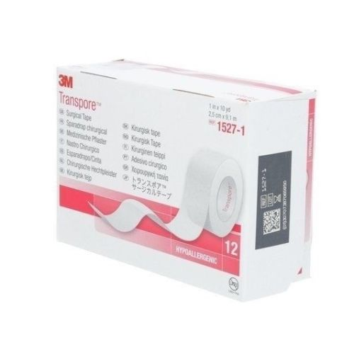 "3M 1527-1_CS TRANSPORE Clear Surgical Tape 1"" x 10yd - (Case of 120)"