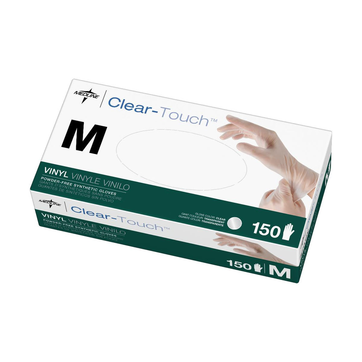Clear-Touch Vinyl Multi-Purpose Gloves - CA Only,Medium, Case of 1500