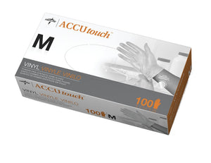 Accutouch Synthetic Exam Gloves - CA Only,Clear,Medium, Box of 100
