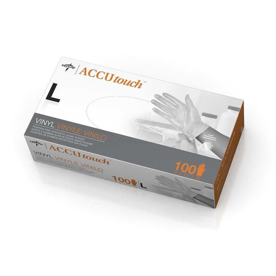 Accutouch Synthetic Exam Gloves - CA Only,Clear,Large, Case of 1000