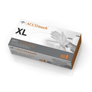 Accutouch Synthetic Exam Gloves - CA Only,Clear,X-Large, Case of 900