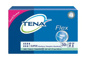 Adult Incontinent Belted Undergarment TENA¬ Flex» Super Pull On Size 12 Disposable Heavy Absorbency PK of 30