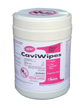 CaviWipes1ª Surface Disinfectant Premoistened Wipe 65 Count Canister
