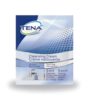 Body Wash TENA¬ Cream 0.17 oz. Individual Packet Unscented CS of 500