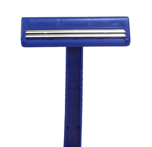 Double Blade Facial Razors,Blue, Box of 50