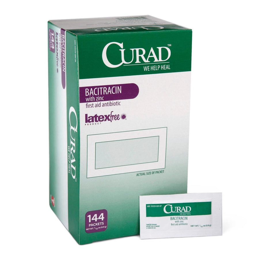 CURAD Bacitracin Ointment,0.030 OZ, Box of 144