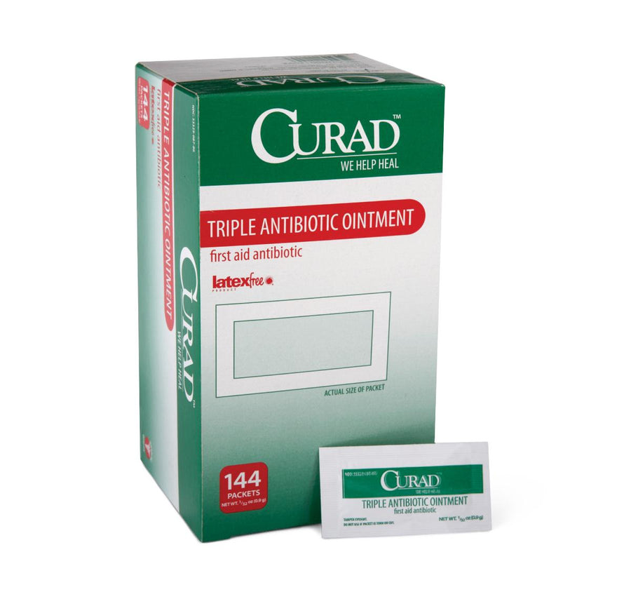 CURAD Triple Antibiotic Ointment,0.030 OZ, Box of 144