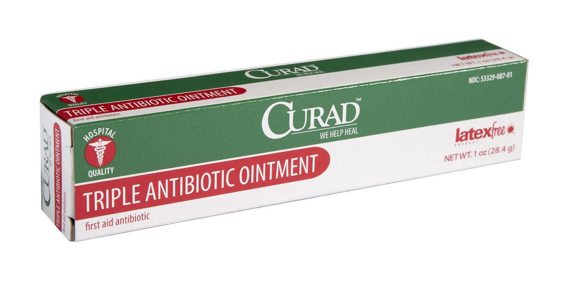 CURAD Triple Antibiotic Ointment,1.000 OZ, Case of 12